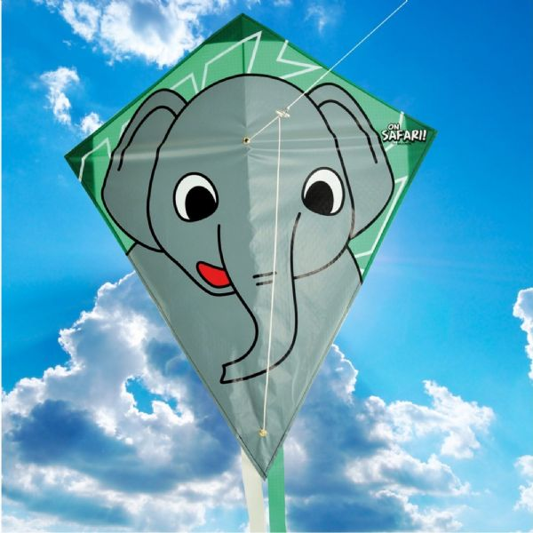 Brookite Childrens Safari Elephant Kite Great for Beginners 6+ Years